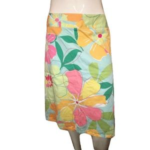 Talbots Multicolored Floral Skirt Size 22W